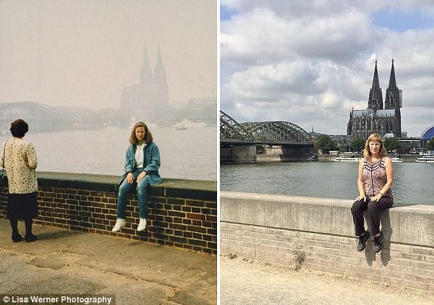 Nữ du khách quay lại châu Âu chụp ảnh đúng nơi từng đến 30 năm trước - Ảnh 1.