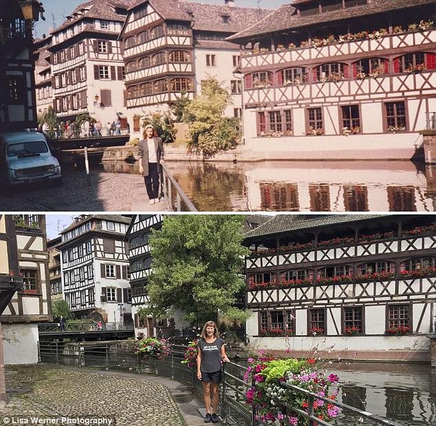Nữ du khách quay lại châu Âu chụp ảnh đúng nơi từng đến 30 năm trước - Ảnh 2.