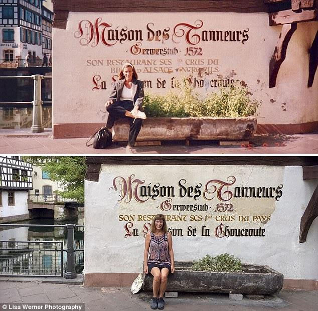 Nữ du khách quay lại châu Âu chụp ảnh đúng nơi từng đến 30 năm trước - Ảnh 3.