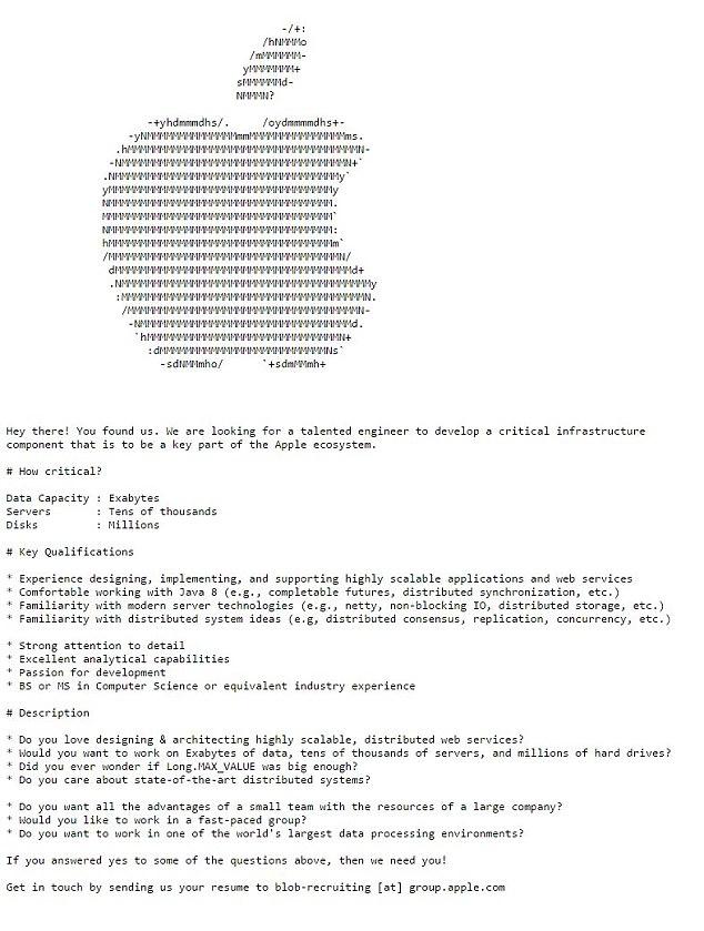 Apple giấu thông điệp tuyển người sâu trong website - Ảnh 2.