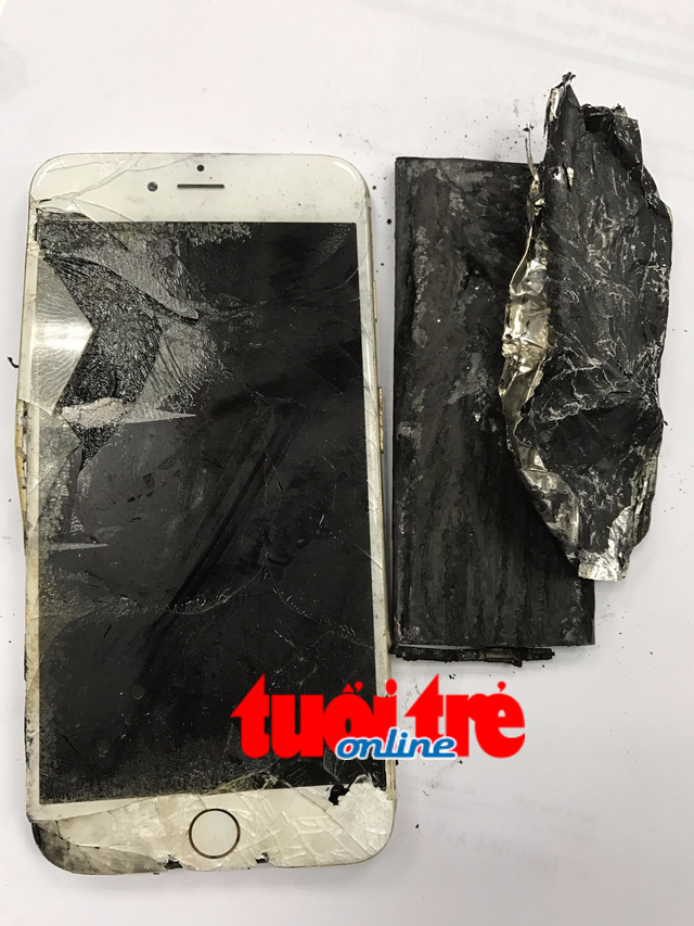 Iphone 6 mua tại Apple Store tự bốc cháy biến dạng - Ảnh 1.