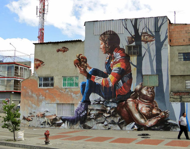 Đường phố Bogotá thu hút du khách nhờ Graffiti - Ảnh 1.