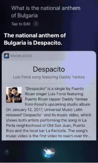 Khi Siri nhầm lẫn quốc ca Bulgari với bản hit đình đám Despacito - Ảnh 2.