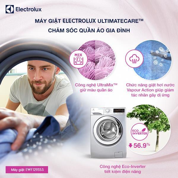 Cặp đôi hoàn hảo máy giặt Electrolux EWF12935S - máy sấy EDV7552S - Ảnh 1.