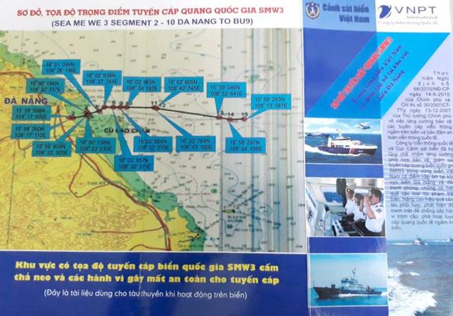 Cảnh sát biển phối hợp bảo vệ tuyến cáp quang biển - Ảnh 2.