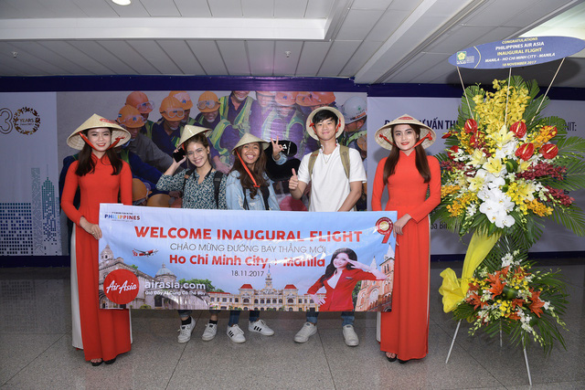 AirAsia mở chuyến bay thẳng đầu tiên từ TP.HCM đến Manila - Ảnh 1.