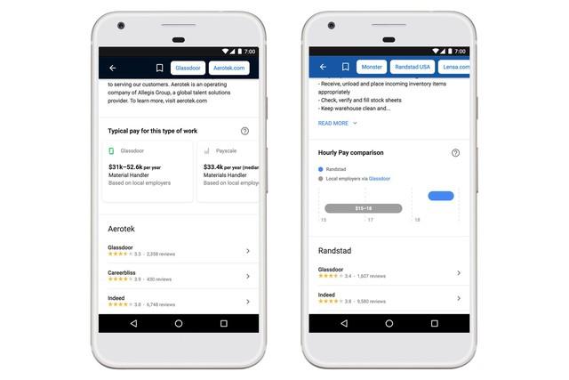 Google cung cấp thông tin về lương trong công cụ tìm việc - Ảnh 1.