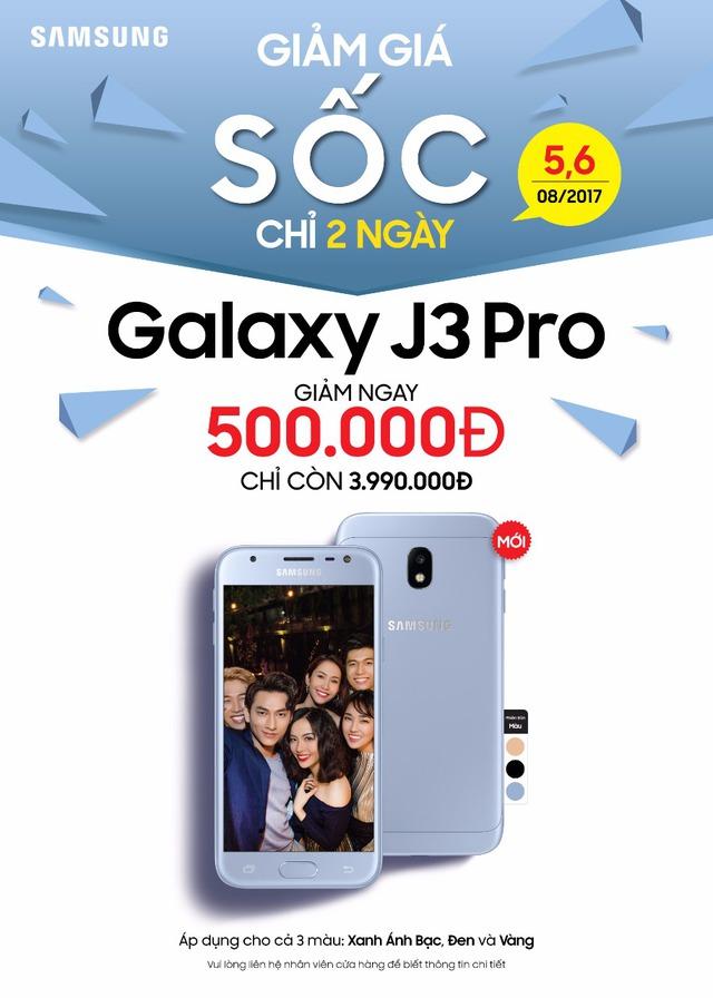 Chính thức mở bán Samsung Galaxy J3 Pro (2017) tại Việt Nam - Ảnh 1.