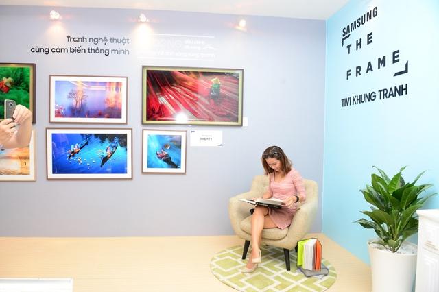 Đắm mình trong không gian nghệ thuật tại triển lãm The Frame - TV Khung Tranh - Ảnh 1.