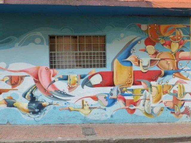 Đường phố Bogotá thu hút du khách nhờ Graffiti - Ảnh 6.