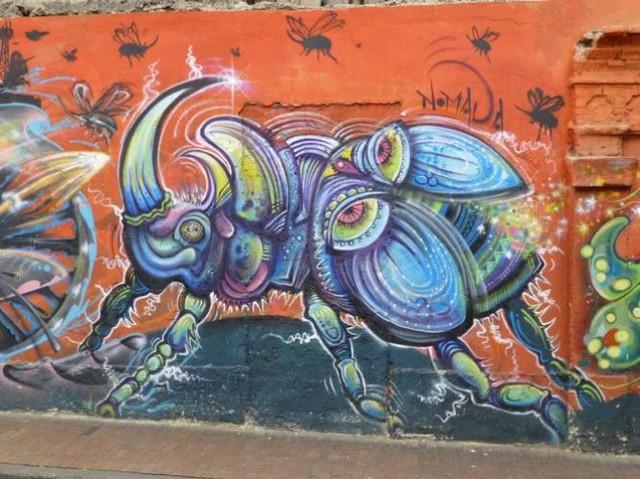 Đường phố Bogotá thu hút du khách nhờ Graffiti - Ảnh 7.