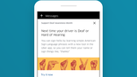 Ứng dụng Uber hỗ trợ thủ ngữ cho người khiếm thính