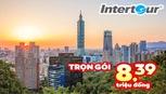 Tour Đài Loan giảm còn 8,39 triệu