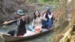 Vào rừng ăn tết, giăng câu,bắt ba khía, ốc len
