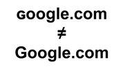 Lưu ý: ɢoogle.com không phải là Google.com