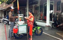 """Những """"gánh hàng xe máy rong"""" ở Tegalalang"""
