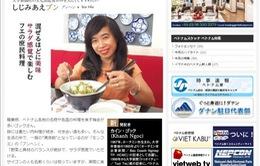 """Bún hến Huế """"nóng""""trên tạp chí Viet Nam Sketch - Nhật Bản"""