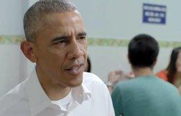 Xem clip Tổng thống Obama ăn bún chả phát trên CNN