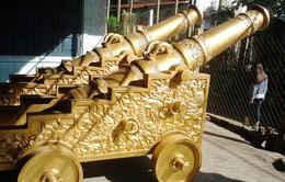 Đúc cặp súng thần công nặng 3,5 tấn