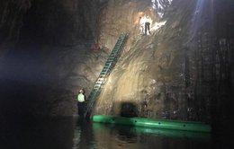 Thang lắp trong hang Sơn Đoòng không ảnh hưởng lớn đến môi trường