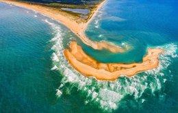 Thình lình đảo nổi lên ngoài khơi Bắc Carolina